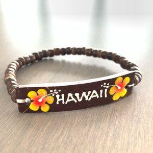 Vintage stretch Hawaii wooden souvenir bracelet